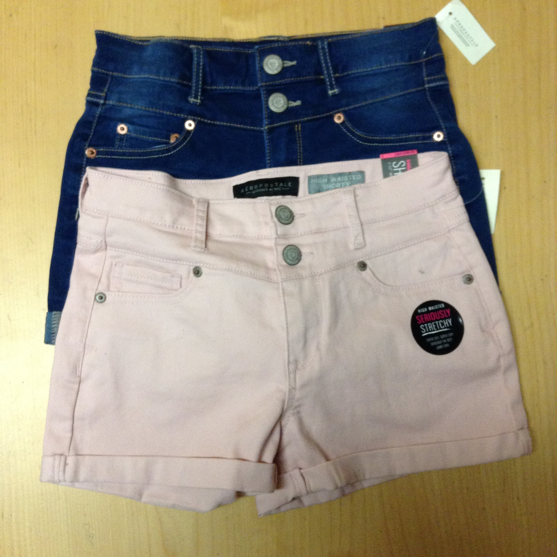 """2fdbfe5db9a8 I got two pairs of high-wasted """"seriously stretchy shorts. They definitely  live up to the name because they are super comfortable. I decided to get  one ..."""